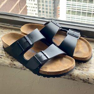BIRKENSTOCK Arizona Soft Footbed - Black, Size 37